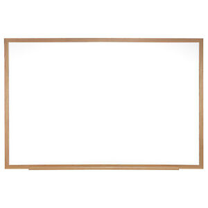 Ghent Magnetic Painted Steel Whiteboard With Wood Frame 4 h X 6 w 1 Ea