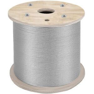 1 8 1x19 Stainless Steel Cable Wire Rope 1000 Ft T316 Commercial Grade Strand