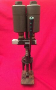 Vintage Unknown Shotshell Ammo Reloading Press Large Bench Mount Press Metal Can