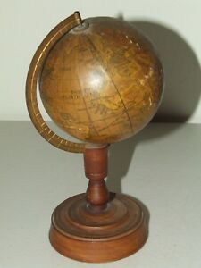 Antique 1914 1924 Japanese 3 5 Mini World Globe With Stand Y Sukagawa Tokyo