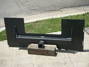 Bobcat Skid Steer Attachment Trailer Hitch Receiver Mount Plate Free Ship