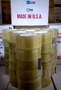 Clear Carton Sealing Tape 2 Inch X 110 Yards 2 5 Mil 36 Rolls American Made