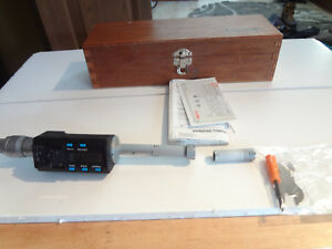 Mitutoyo 468 168 Digimatic Holtest Lcd Inside Micrometer Three point