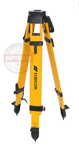 Topcon Heavy duty Wood Tripod surveying trimble sokkia seco gps Robotic leica