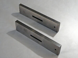 Pair precision Solid Parallels Made By Gm Toolmaker 8 X 2 X 1 2 vgc