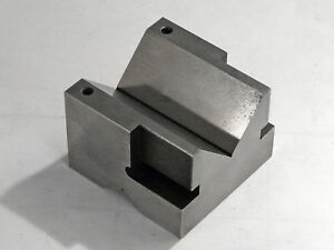 Large 3 drilled Tapped Toolmakers V block made By Gm Toolmaker vgc