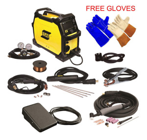 Esab Dual Voltage Portable Multiprocess Arc Mig Tig Stick Welder Welding Machine