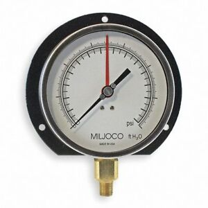 Altitude Pressure Gauge 0 To 200 Psi 0 To 460 Feet 8 1 2 Dial New