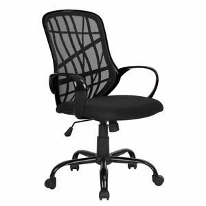 Chair Office Executive High Ergonomic Midback Mesh Computer Desk Back Black Seat