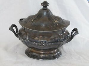 Antique Reed Barton Covered Soup Tureen Silver Soldered 0106 M