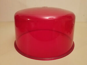 Nos Vintage Stratolite 80 Emergency Red Beacon Light Lens police Emergency Fire