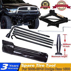 Spare Tire Lug Wrench Portable Tool Kit For 02 15 Dodge Ram 1500 W Scissor Jack