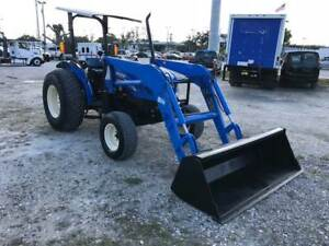 2006 New Holland Tn60a Tractor W Loader Mint Condition Low Hours L k