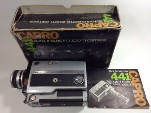 capro 441 super 8mm movie camera