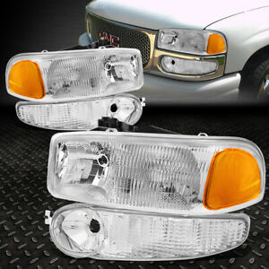 For 01 07 Gmc Sierra 1500 Yukon Xl Denali Amber Corner Headlight Bumper Lamps