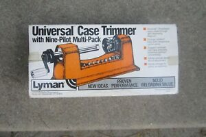 Lyman Universal Case Trimmer With 9 Pilots Excellent Condition Barely Used