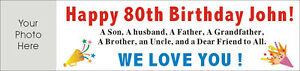2ftx8ft Custom Personalized Happy Birthday Banner W Your Photo