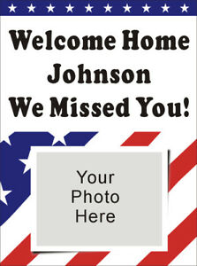 3ftx4ft Personalized Army Marine Navy Air Force Welcome Home Banner W Photo