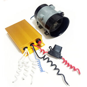 12v Car Electric Turbine Power Turbo Charger Bold Lines W Automatic Controller