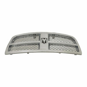 2009 2012 Dodge Ram 1500 Front Chrome Grille With Rams Head Emblem Oem New Mopar