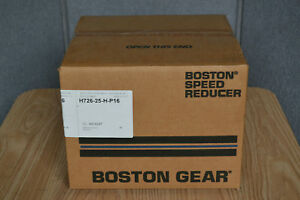 Boston Gear 30 1 Ratio Worm Speed Reducer H726 25h p16