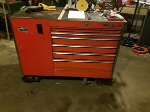 Vintage Snap On Tool Box Snap On Vise And Bench Grinder Included Local 06513