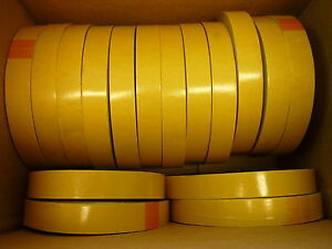 16 Rolls Of Jvcc 1 X 60yd D c Pvc Tape White Film Gold Liner Dc 4420