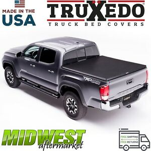 Truxedo Truxport Soft Roll Up Tonneau Cover For 2016 2019 Toyota Tacoma 5 Bed