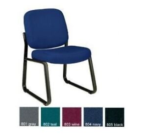 Ofm 405 Guest Fabric Office Chair For Reception And Waiting Rooms With Sled Base