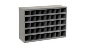 New Durham 40 Opening Bins 12 Deep Parts Bins With Slope Shelf Steel Storage