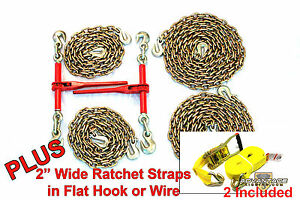 3 8 Transport 2 Ratchet Binders 10 20 Foot Chains And Ratchet Straps Hauling