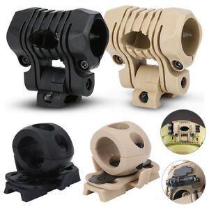 Tactical Flashlight Holder Clip Mount Rail Clamp Accessories For Fast Helmet SA