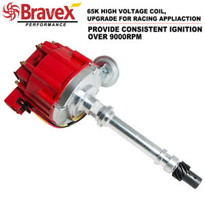 Sbc Chevy Performance Hei Distributor Red Cap Super Coil 305 350 400 Small Block