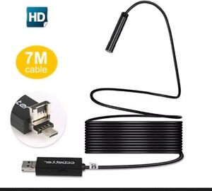 2 In 1 Usb Endoscope Mp 720p Hd Camera 8 5mm Ip67 Waterproof Adjustable Leds
