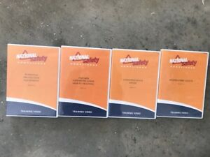 Package Of Four 4 National Safety Compliance Dvd Video Training Kits