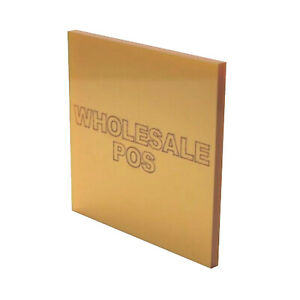 Metallic Gold Sheet Cast Acrylic Perspex Mt9918 Ideal Metal Substitute 3mm