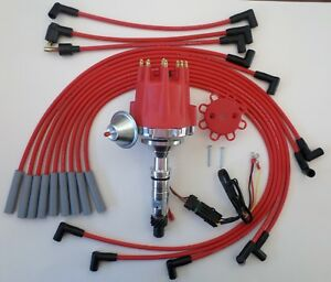Small Cap Buick Nailhead 322 364 401 425 Hei Red Distributor Spark Plug Wires