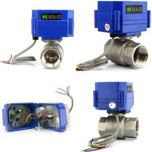 Motorized Ball Valve With Full Port Electrical Stainless Steel Wire Water Motor
