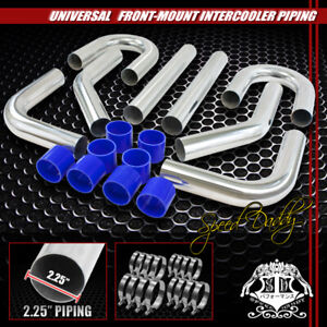 Universal 8pc 2 25 Aluminum Fmic Intercooler Piping silicone Hose clamp Silver