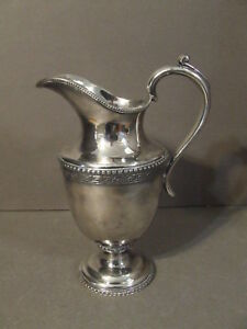 Antique Mfd Plated Reed Barton Silverplate Creamer Pitcher 1790