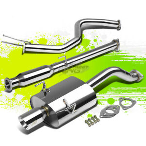 J2 Engineering 3 5 Tip Stainless Steel Catback Exhaust For Civic Eg6 3dr Hatch