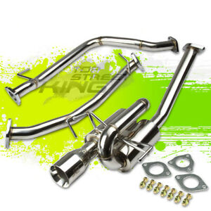 J2 3 5 Muffler Tip Twin Loop Catback Exhaust For 11 14 Honda Cr Z Zf1 Zf 1