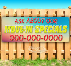 Move In Specials Customize Advertising Vinyl Banner Flag Sign Many Sizes Usa