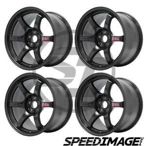 4x Gram Lights 57dr 18x9 5 12 5x114 3 Semi Gloss Black Set Of 4 Wheels Wheel