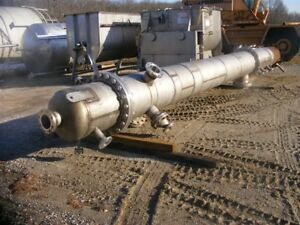 Used Stainless Steel Distillation Column 5 Psi 200 25 Degf 24 Dia X 29 6 Ht