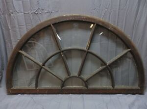 Large Wide Antique Arched Dome Top 62 34 Palladian Window Old Vintage 241 18p