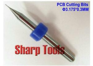 10pcs 0 3mm Pcb Carbide Cutting Tools Endmills Power Mdf Boards Drills