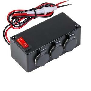 Automotive Dc Power Outlet Extension W on off Switch heavy Duty 12v 24v