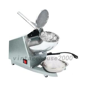 Stainless Steel Electric Ice Crusher Shaver Machine Glacier Ice Crusher Us Local