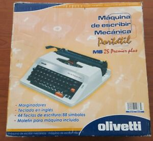 Olivetti Ms 25 Premier Plus Portable Manual Typewriter W case In Box